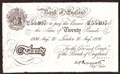 London Coins : A130 : Lot 262 : Twenty pounds Peppiatt white WW2 German Operation Bernhard forgery dated 20 August 1936, prefix ...