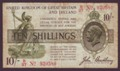 London Coins : A134 : Lot 152 : Treasury 10 shillings Bradbury T20 issued 1918 serial B/27 920580, (No. with dash), stained ...