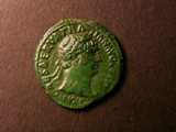 London Coins : A134 : Lot 1711 : As Trajan AD98-117 Reverse Victory alighting with shield inscribed SPQR RCV 3242 VF with green patin...