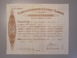 London Coins : A134 : Lot 51 : Great Britain, Plymouth, Devonport & District Tramways Co., share certificate, 1...