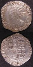 London Coins : A143 : Lot 1528 : Shillings (2) Elizabeth I Second Issue S.2555 mintmark Cross Crosslet VG/NF, Charles I Group F Sixth...