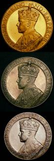 London Coins : A145 : Lot 1036 : Coronation of Edward VIII 1937 (3) 35mm diameter in silver by John Pinches Ltd. Obverse Crowned and ...