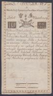 London Coins : A151 : Lot 452 : Poland 10 Zlotych Treasury Note dated 8th June 1794 series No.21267, Bilet Skarbowy, PickA2, rust sp...