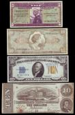 London Coins : A154 : Lot 367 : USA (4) Ten Dollars 1934 issue with yellow seal EF, Military Payment Certificates (3) Ten Dollars se...