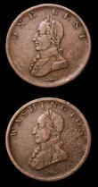 London Coins : A155 : Lot 2369 : USA (2) Cent Washington undated, Plain edge, Breen 1204, Fine, the surfaces a little uneven, Halfpen...