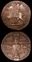 London Coins : A158 : Lot 1190 : Ireland Crown Gunmoney 1690 VICT/ORE S.6578 Fine/Good Fine, Scotland Turner 1677 FBA for FRA error S...
