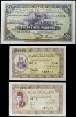 London Coins : A158 : Lot 246 : Egypt (3) 25 Piastres dated 17th May 1943 signed Nixon, Pick10c, VF, 5 Piastres Law 1940 signed M. E...