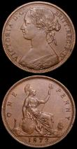 London Coins : A160 : Lot 2375 : Pennies (2) 1872 Freeman 62 dies 6+G GVF, 1878 Freeman 94 dies 8+J NEF