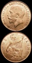 London Coins : A160 : Lot 2379 : Pennies (2) 1917 Freeman 181 dies 2+B UNC with practically full lustre, 1926 First Head Freeman 193 ...