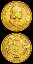 London Coins : A162 : Lot 1315 : World Gold (3) Costa Rica 10 Colones 1897 KM#140 NVF/VF with some edge nicks, Japan 5 Yen Year 30 (1...