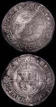London Coins : A162 : Lot 1596 : Groat Mary S.2492 mintmark Pomegranate VG/Fine, Shilling Edward VI Fine silver issue S.2482 mintmark...