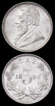 London Coins : A162 : Lot 2959 : South Africa Threepence (2) 1896 and 1897 GEF - UNC