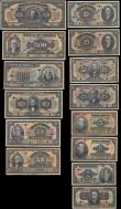 London Coins : A165 : Lot 1178 : Brazil a complete series SPECIMEN set (13) comprising 1 Mil Reis Pick 110Bs Estampa 1A serie 1A punc...
