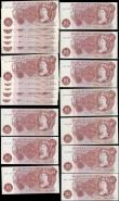 London Coins : A165 : Lot 214 : Ten Shillings (20) O'Brien (2) 1961 B286 a consecutively numbered set of 2 - C03 511214 and C03...
