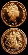 London Coins : A165 : Lot 2207 : Isle of Man One Tenth Angel 1987 Gold (2) KM#140 Lustrous UNC with very light toning