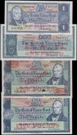 London Coins : A165 : Lot 803 : Scotland The British Linen Bank an assortment of 1 and 5 Pounds signatures Walker and Anderson inclu...