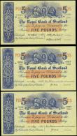 London Coins : A165 : Lot 812 : Scotland The Royal Bank of Scotland (5) includes 5 Pounds Calloway-Murphy RB 58a (2) a consecutive p...