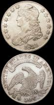London Coins : A166 : Lot 1231 : USA Half Dollars (2) 1831 Perfect 1's Breen 4693 Bright About EF with some hairlines, 1832 Norm...