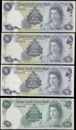London Coins : A166 : Lot 155 : Cayman Islands Currency Board Queen Elizabeth II issues (4) comprising 1 Dollars (3) including Pick ...