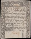 London Coins : A166 : Lot 469 : USA Colony of Connecticut 5 Shillings Pick S557 dated 1st July 1780 manuscript signature J. Chester ...