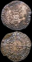 London Coins : A167 : Lot 379 : Groat Henry VII, Facing Bust issue London Mint, Type IIId S.2199A mintmark Anchor VF or slightly bet...