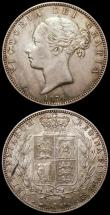London Coins : A168 : Lot 1368 : Halfcrown 1874 ESC 692, Bull 2741 NEF with a tone line on the reverse, Florin 1865 ESC 826, Bull 285...