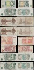 London Coins : A169 : Lot 15 : Bank of England & Treasury (33) a selection of notes in a small album and in mixed grades from G...