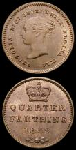 London Coins : A169 : Lot 1701 : Quarter Farthings (2) 1839 Peck 1608 UNC or very near so with traces of lustre, 1852 Peck 1610 AU/GE...