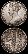London Coins : A170 : Lot 1592 : Florins (2) 1849 ESC 802, Bull 2815 Good Fine, 1849 W.W obliterated by linear circle ESC 802A, Bull ...