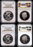 London Coins : A170 : Lot 538 : Five Pound Crowns 2009 3-Year Countdown to the London Olympics S.4920 Silver Proof Piedforts with th...