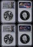 London Coins : A170 : Lot 543 : Five Pound Crowns 2019 200th Anniversary of the Birth of Queen Victoria Silver Proof Piedforts, Reve...