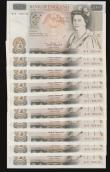 London Coins : A172 : Lot 35 : Fifty pounds Somerset B352 issued 1981 (10 consecutives) series B10 323140 through to B10 323149, Ch...